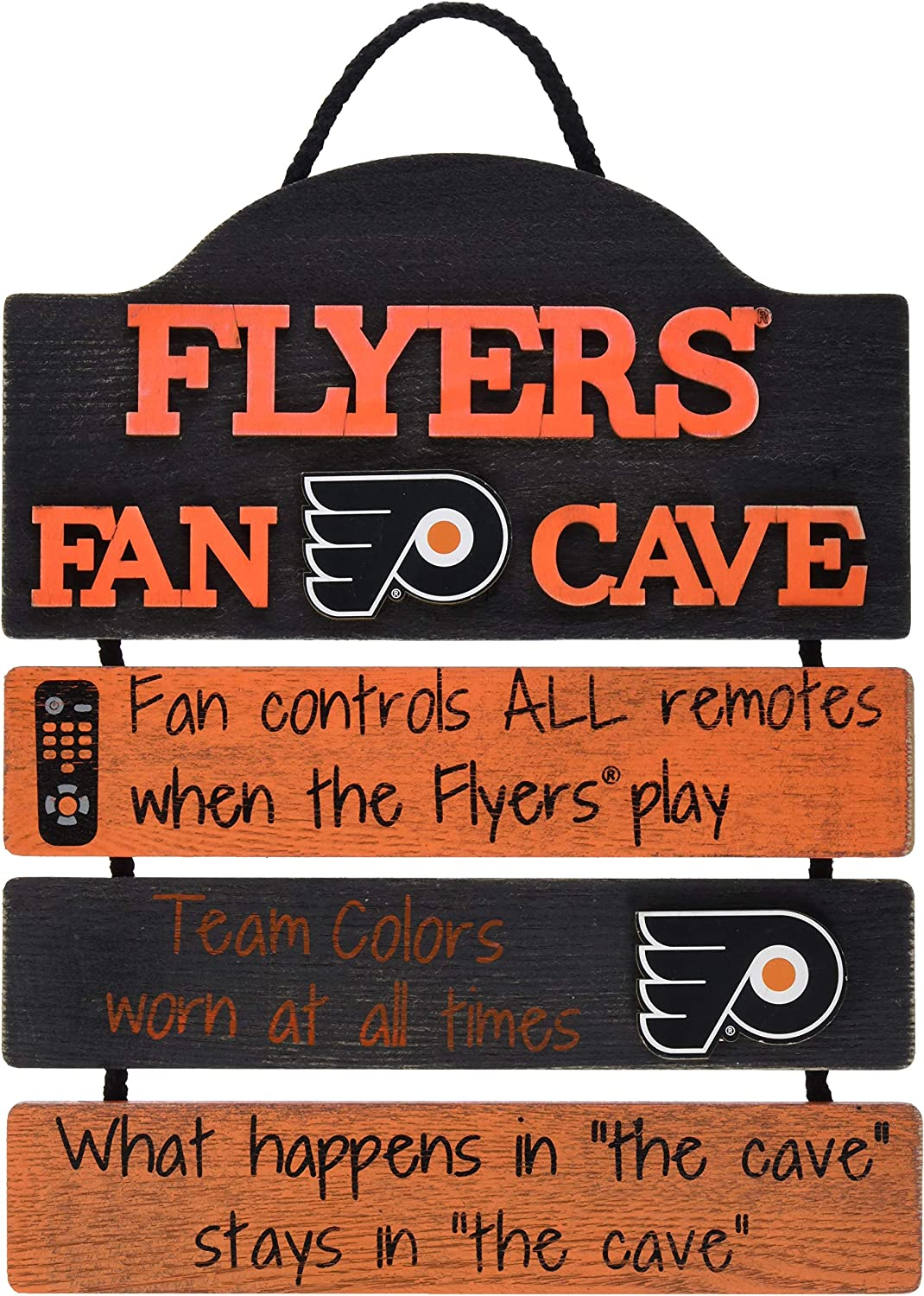 FOCO NHL Team Logo Mancave Man Cave Hanging Wall Sign