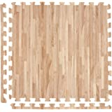 IncStores Soft Wood Foam Tiles 2ft x 2ft Interlocking Floor Tiles with Edges