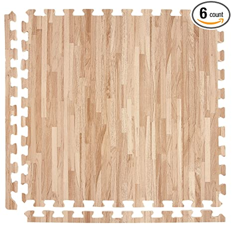 Amazon Incstores Soft Wood Foam Tiles 2ft X 2ft Interlocking