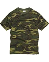Unknown - T-shirt - - Manches courtes Homme Multicolore woodland camouflage - Cotton, 100% coton, XS