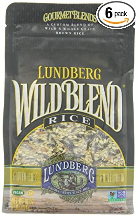 Amazon Com Lundberg Wild Blend 16 Ounce Pack Of 6 Gourmet Wild And Whole Grain Brown Rice Blend Dried Brown Rice Grocery Gourmet Food