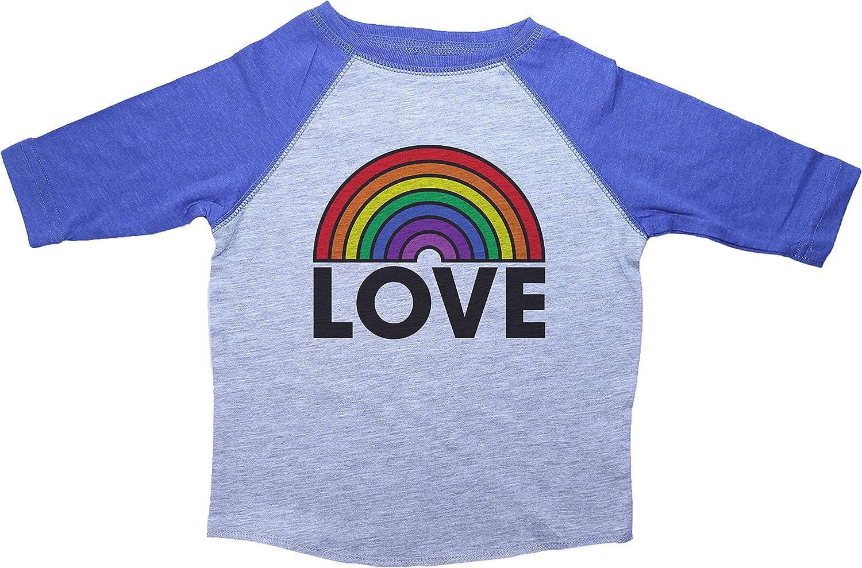 Rainbow Toddler Tee//Love//Unisex Raglan Baseball Shirt//LGBT Friendly Shirt