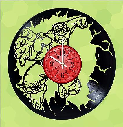 HULK Ragnarok Handmade Vinyl Record Wall Clock - Get unique home room wall decor - MARVEL