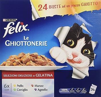 Felix Le ghiottonerie Comida para el Gato, con Manzo, con Pollo, con Conejo