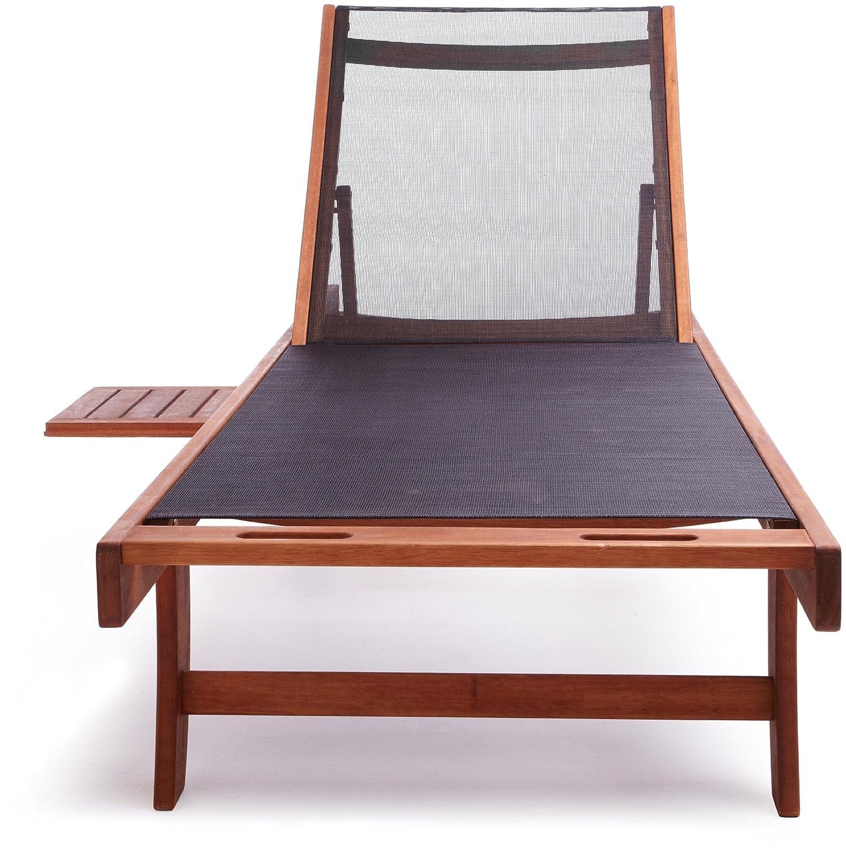 amazon com strathwood basics chaise lounge chair with textilene
