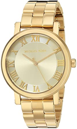 c52ec88be485 Amazon.com  Michael Kors Women s Norie Gold-Tone Watch MK3560 ...