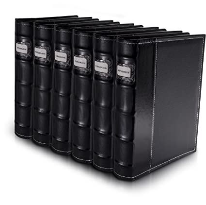 Bellagio Italia Black DVD Storage Binder Set   Stores Up To 288 DVDs, CDs