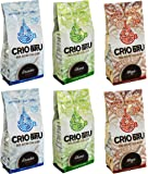 Crio Bru Brewed Cocoa 100% Roasted and Ground Cocoa Beans Variety Pack of 6