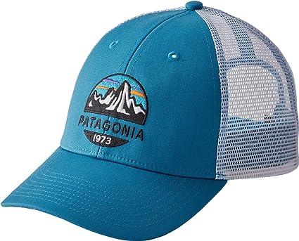 5e2f880d4 Patagonia Men's Fitz Roy Scope LoPro Trucker Mesh Cap Hat (Lumi Blue)