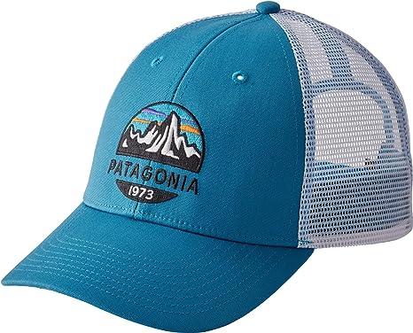 5d640618d Amazon.com: Patagonia Men's Fitz Roy Scope LoPro Trucker Mesh Cap Hat (Lumi  Blue): Clothing