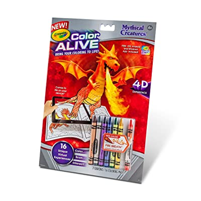 Crayola Color Alive Action Coloring Pages-Mythical Creatures: Toys & Games