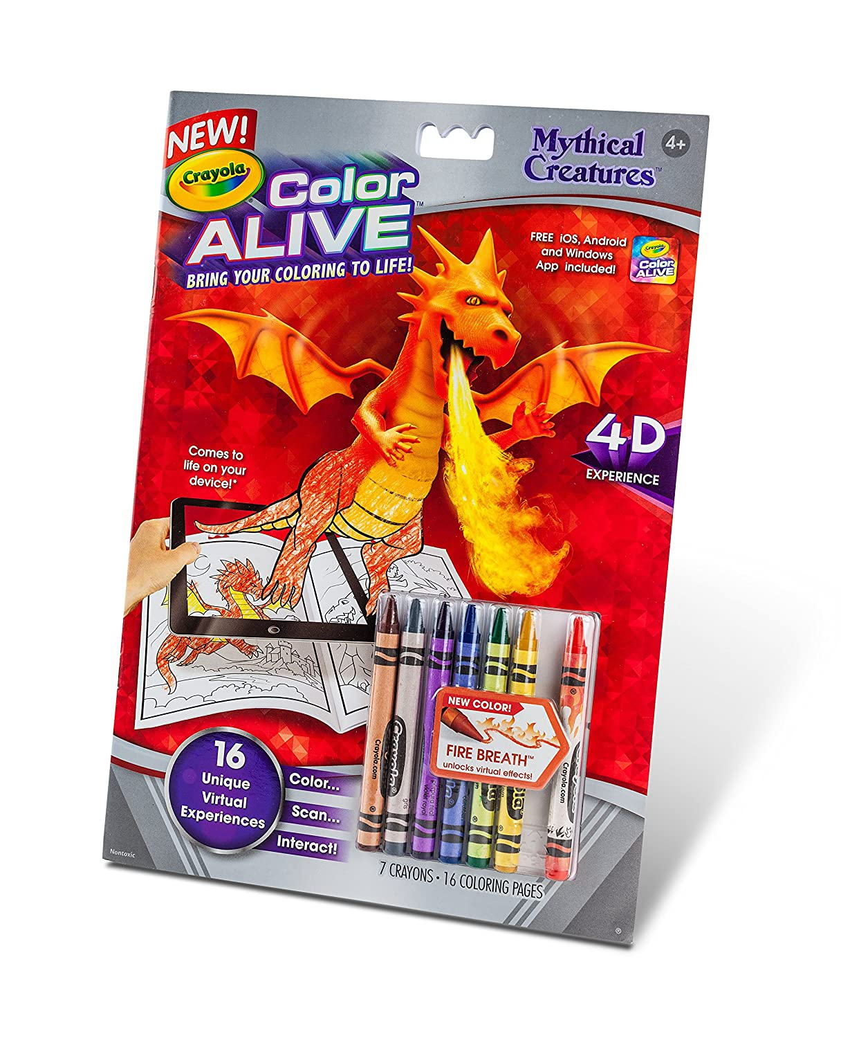 Amazon.com: Crayola Color Alive Action Coloring Pages-Mythical ...