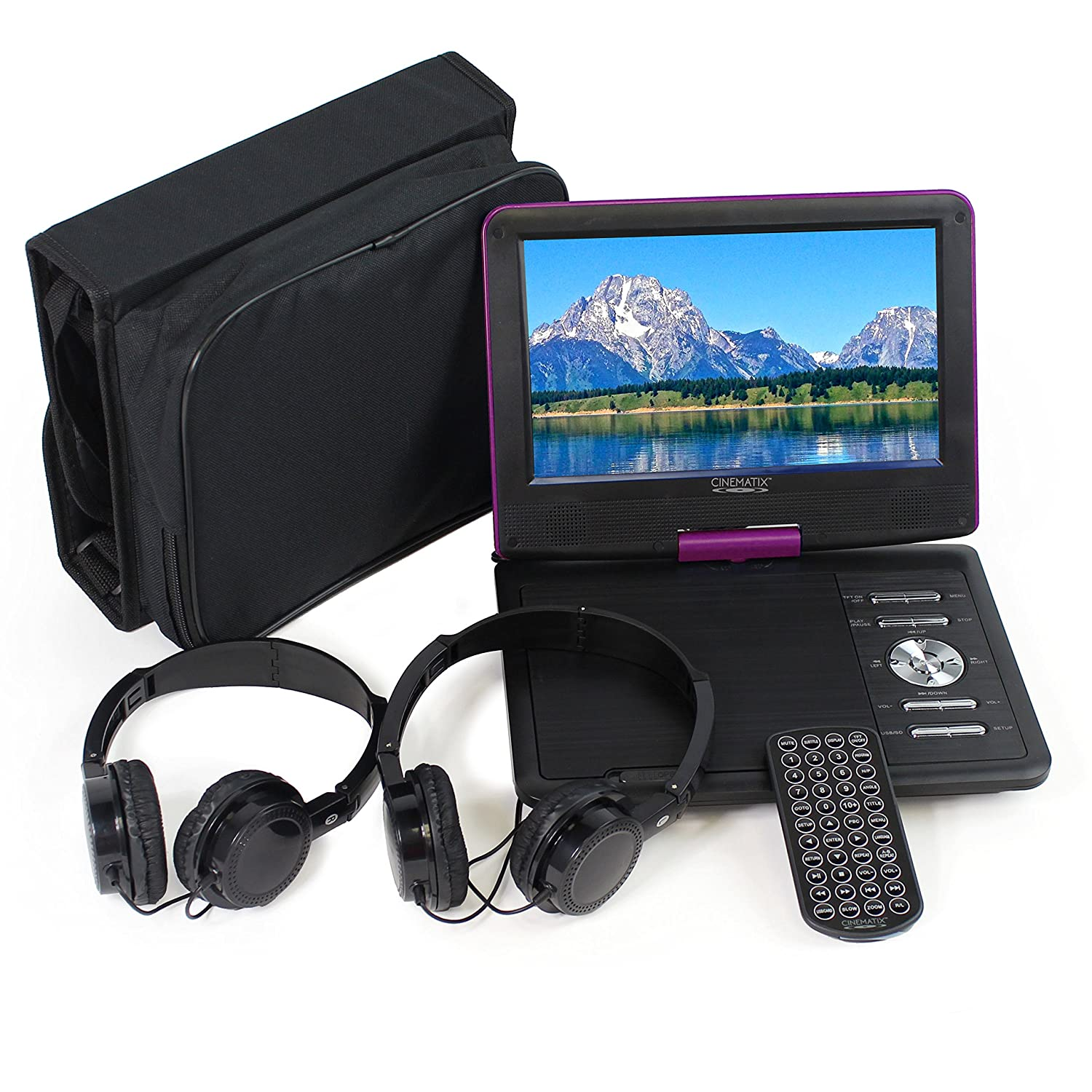 """Amazon.com: Cinematix 9"""" Portable DVD Player with 6 + Hour Battery Life:  Electronics"""