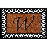 """Calloway Mills 180041925W Monogram Insert Doormat 19"""" x 25"""" (Letter W)"""