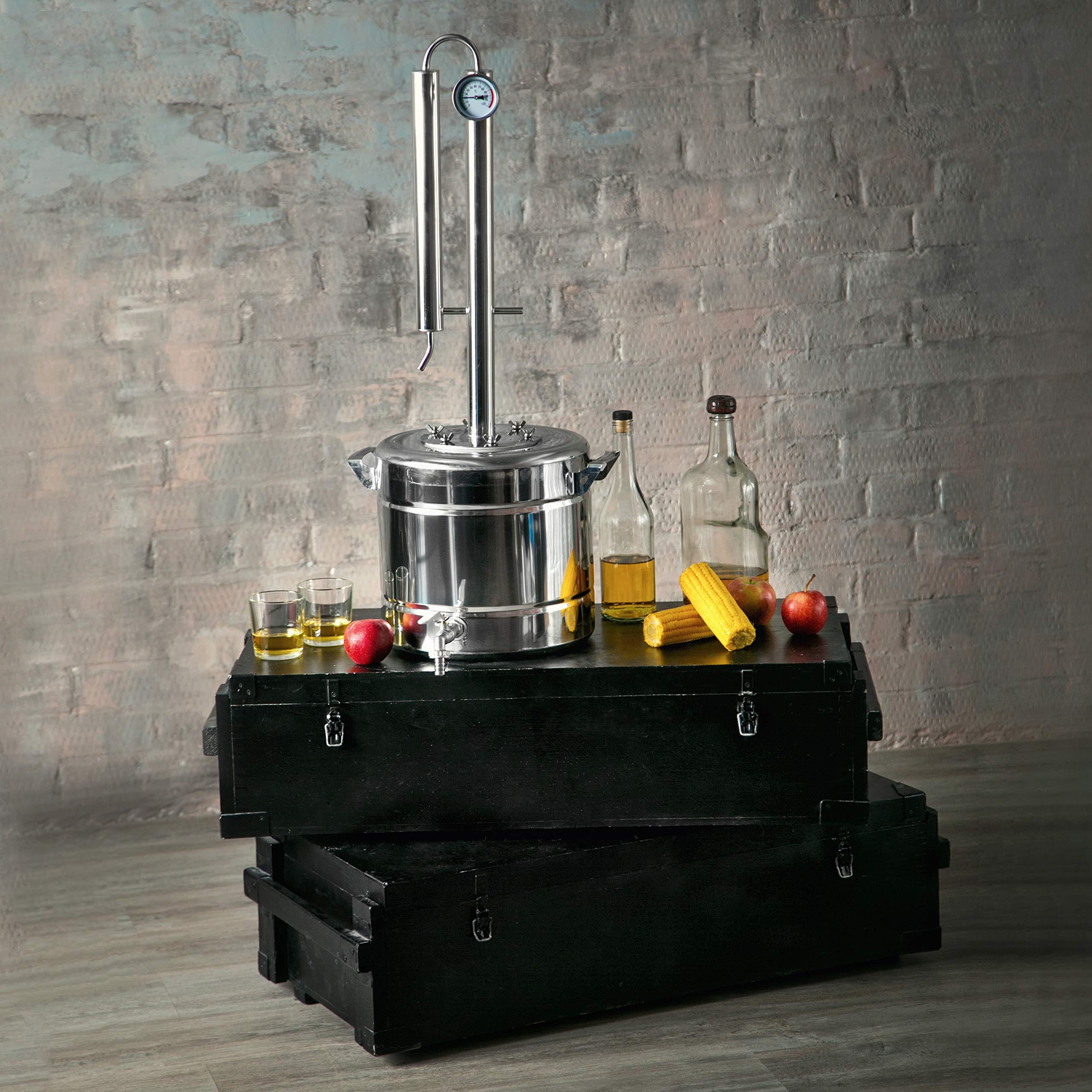 TANNOX Moonshine Still Kit Complete, Alcohol Distiller -Stainless Steel, Alcohol Still Spirits-Whiskey Making Kit - Liquor still 3Gal by TANNOX (Image #5)