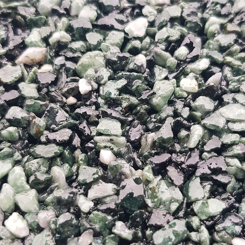 Mischeimer 1,5kg Epoxidharz Bindemittel WO-WE Steinteppich SET 25kg Marmorkies Natur Grau 1-4mm