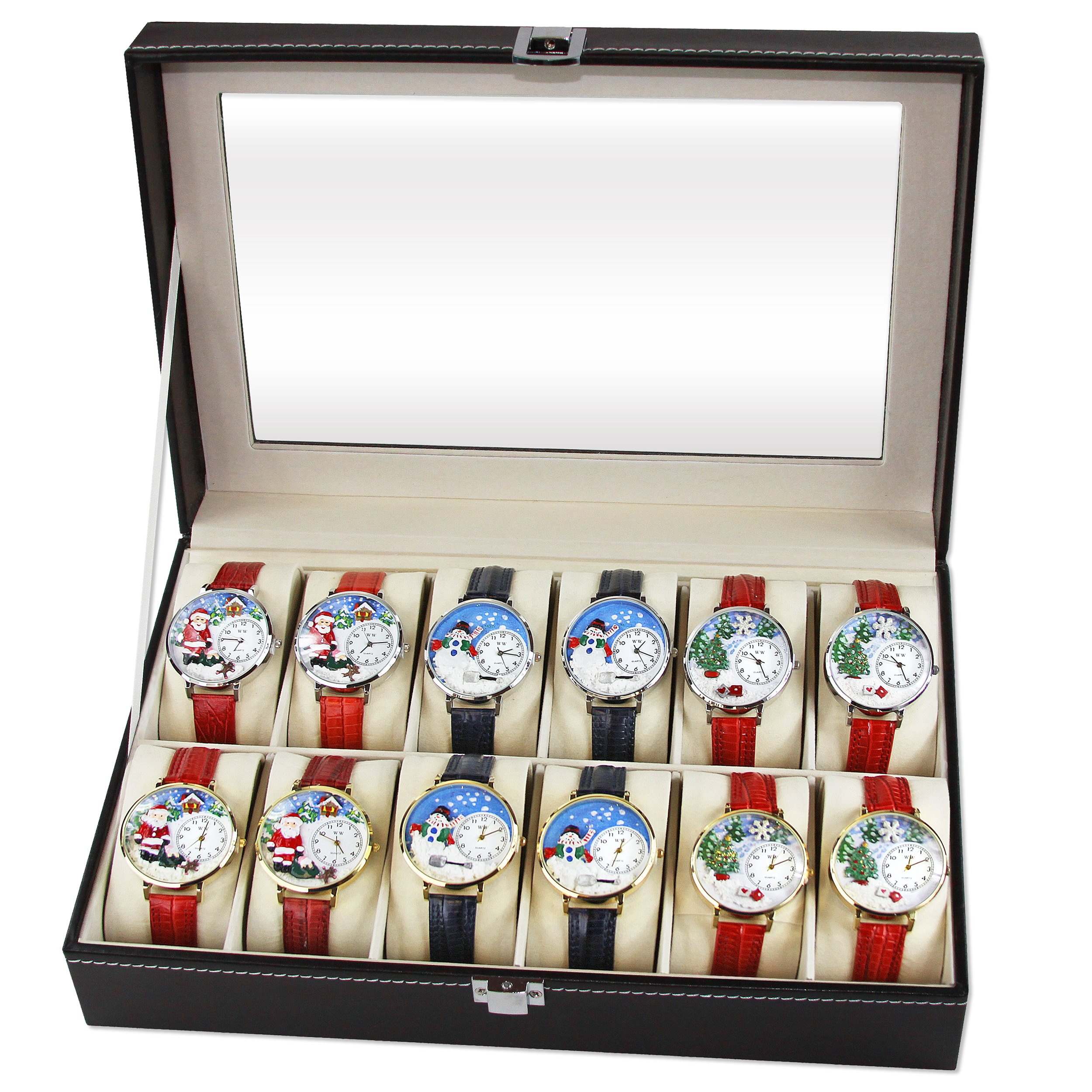 Whimsical Christmas Watch 12ct Display (6 Gold; 6 Silver)