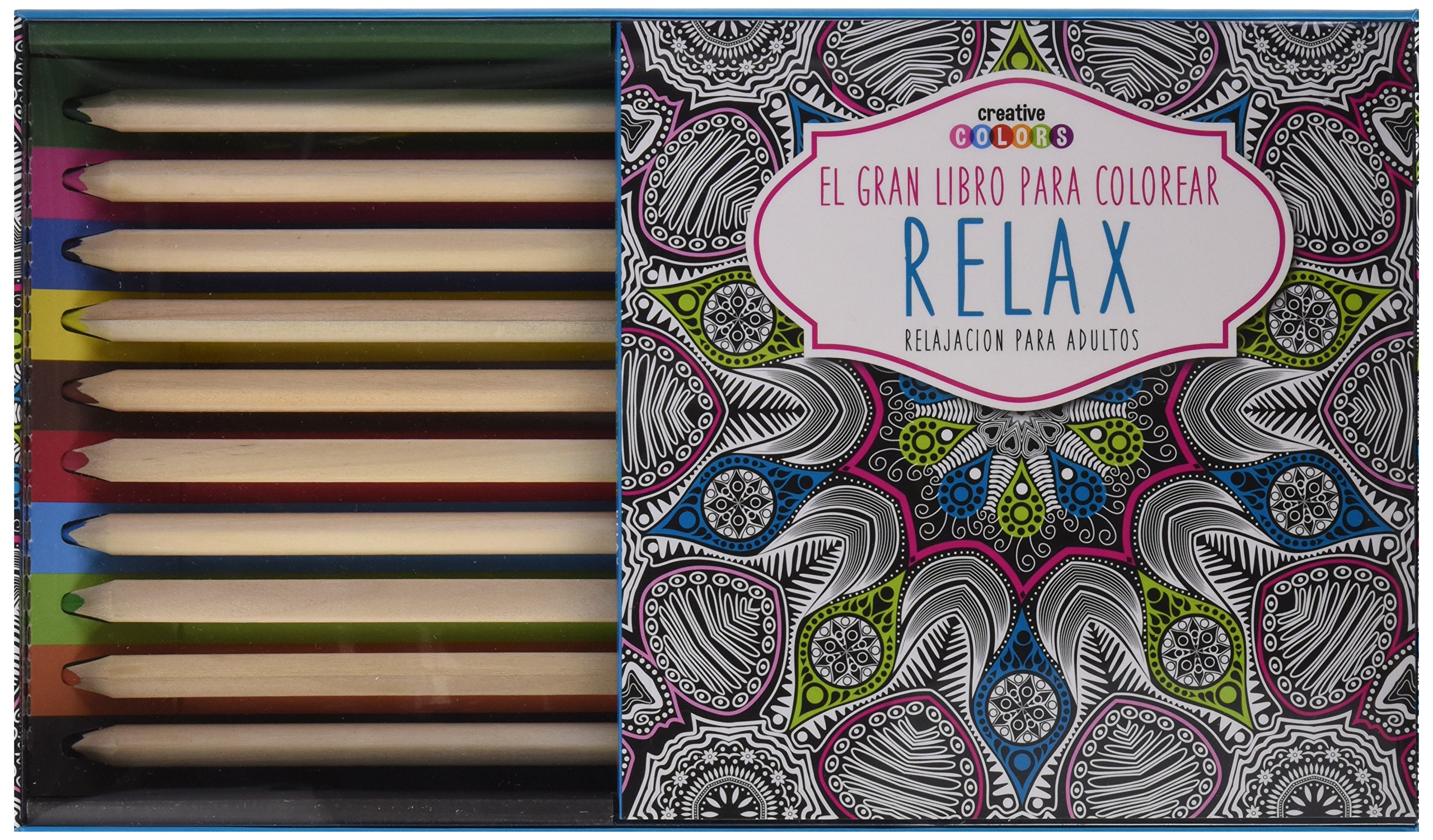 Gran Libro Para Colorear Relax Con Lapices: Amazon.es: Vv.Aa: Libros