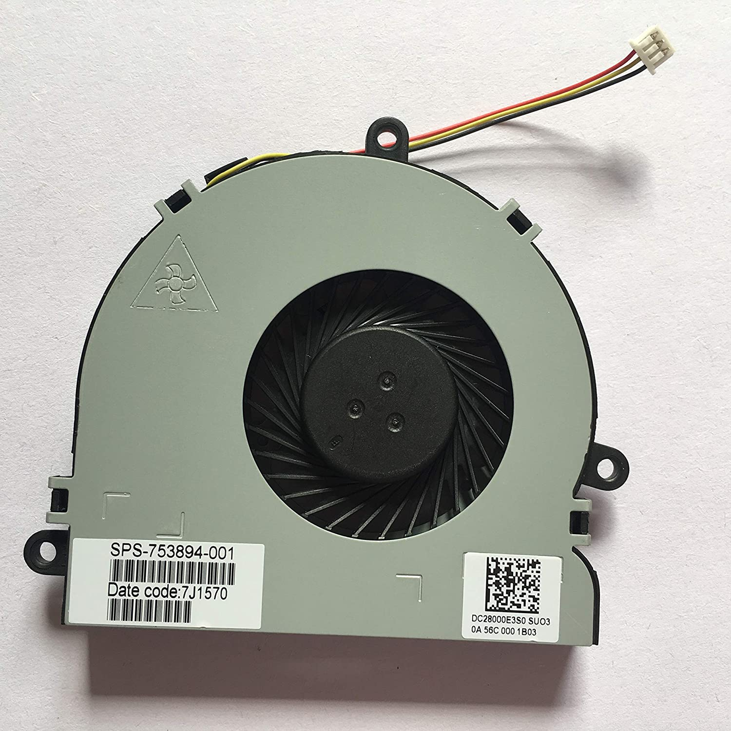 Z-one Fan Replacement for HP 14-G000 14-R000 14-R100 15-G000 15-G100 15-R000 15-R100 245-A4 245-E1 245-G3 246 G3 250 G3 255-A4 255-E1 255-G3 Series CPU Cooling Fan 753894-001 3-Wire 3-pin