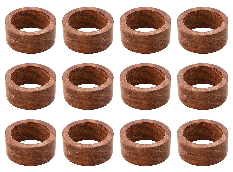 Arnクラフトハンドメイド木製ナプキンリングナプキンリング 標準 ブラウン NHNR- 05-12 12  B07D9K9K75
