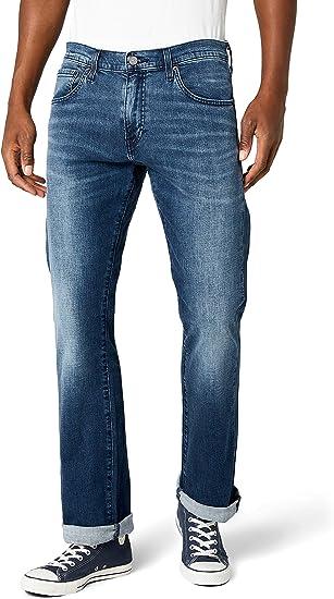 TALLA 33W / 32L. Levi's 527 Slim Boot Cut Vaqueros Corte de Bota para Hombre