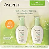Aveeno Positively Radiant Skin Daily Moisturizer SPF 15, 4 Ounce (Pack of 2)
