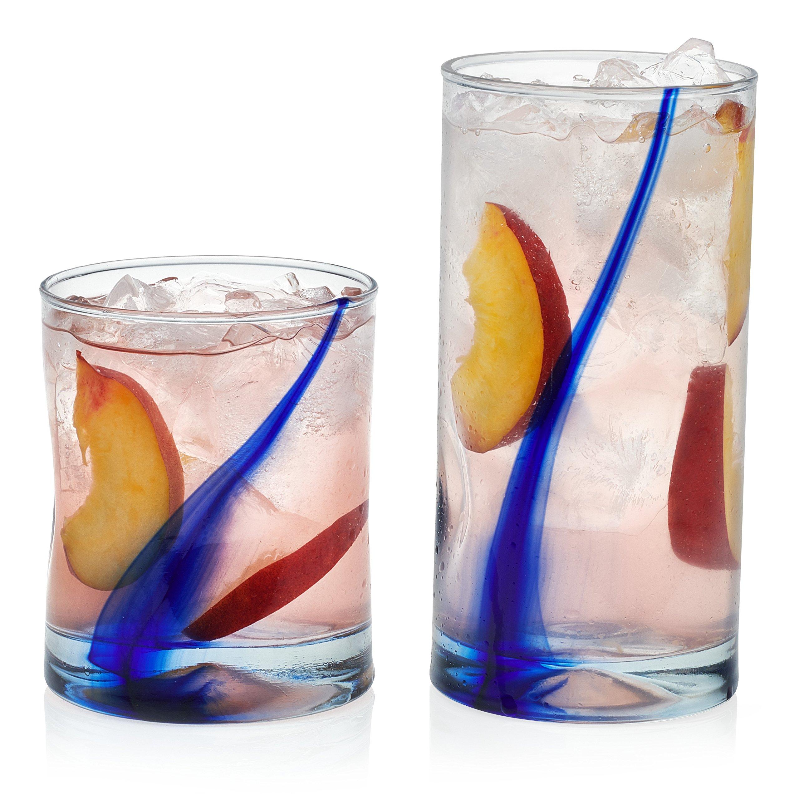 Libbey Blue Ribbon Impressions 16-piece Glass Drinkware Set
