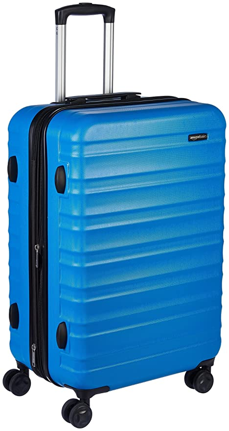 AmazonBasics Hardside Spinner Travel Luggage Suitcase - 24 Inch, Blue