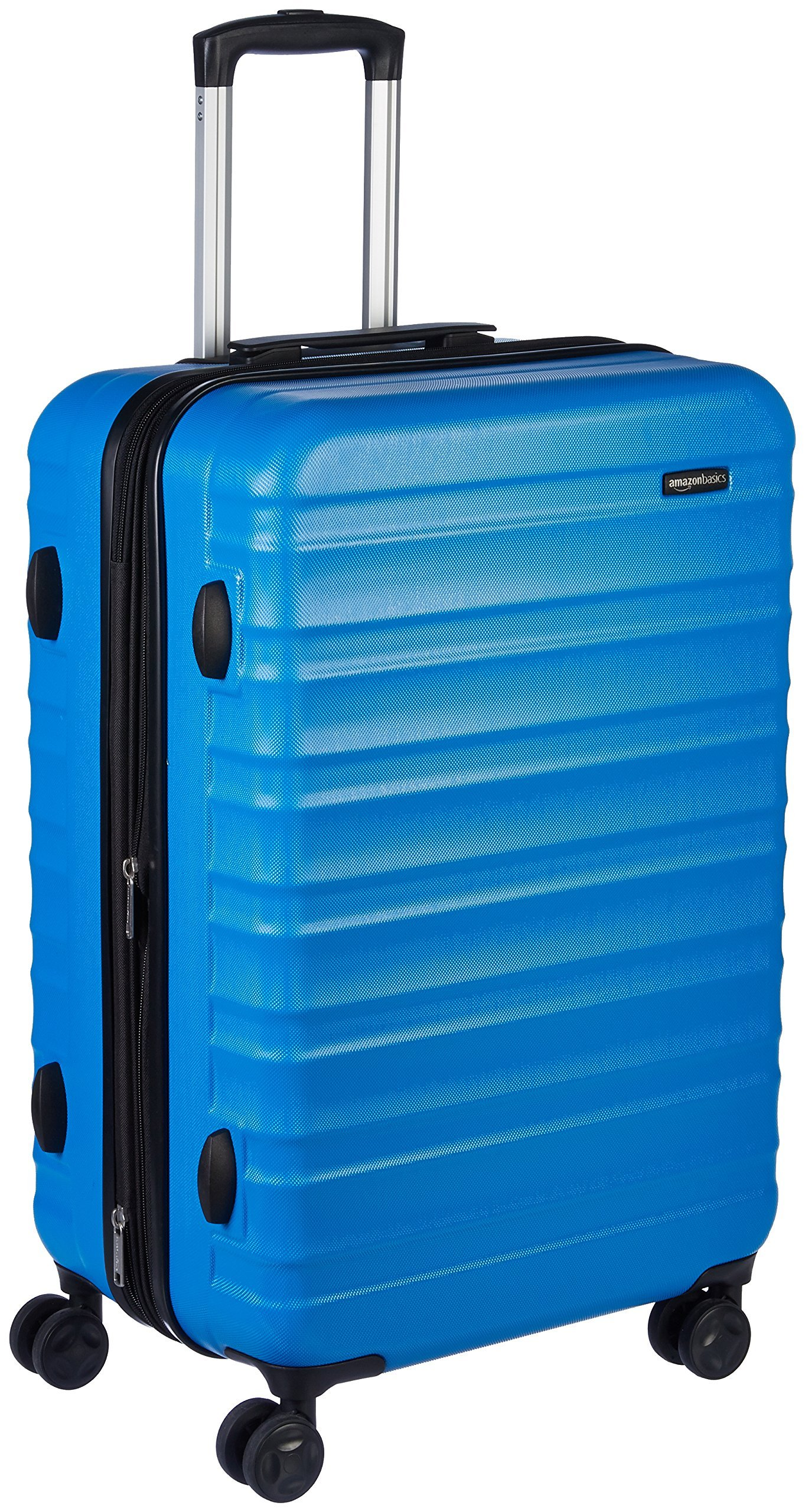 AmazonBasics Hardside Spinner Luggage - 24-Inch, Light Blue