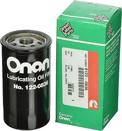 Amazon.com: Cummins Onan 122-0836 filtro de aceite: Automotive