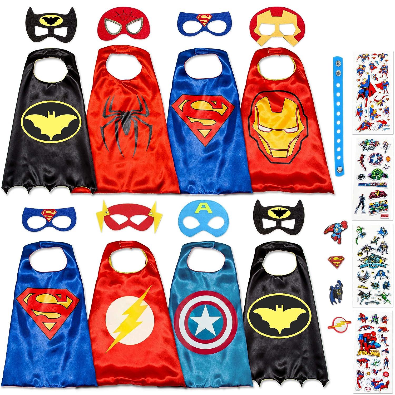 Disfraz De Superhéroes para Niño - Regalos De Cumpleaños para Niña - 8 Capas Y Máscaras - Juguetes para Niños Y Niñas - Logo Brillante: Amazon.es: Productos ...