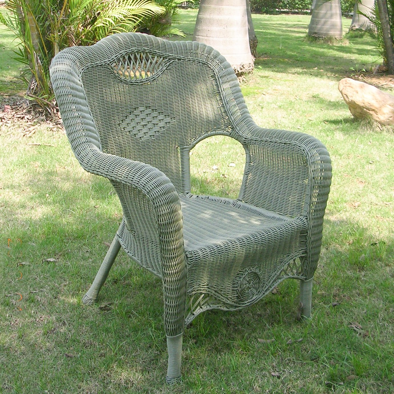 International CaravanInternational Caravan Riviera Resin Wicker Aluminum Outdoor Dining Chair