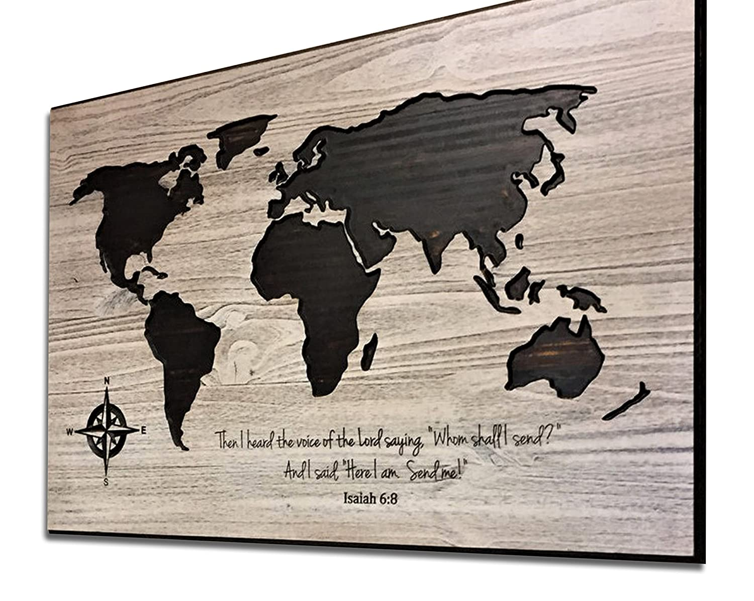 Amazon com religious wall decor wood wall art world map art
