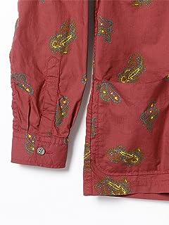 Paisley Cotton Camp Shirt Jacket 11-16-1303-139: Burgundy
