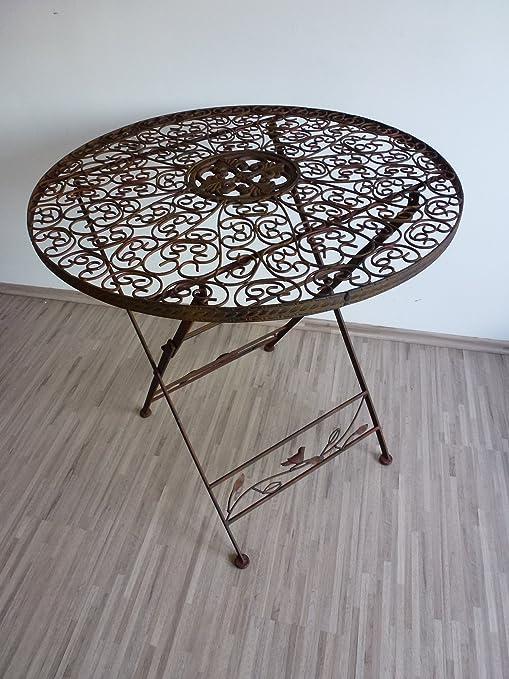 Gartentisch Klapptisch Metalltisch Tisch Metall Rund 70 Cm