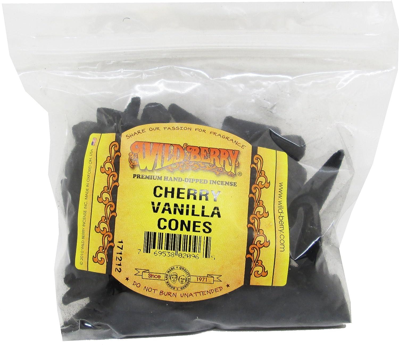 Cultural Exchange Wildberry Cherry Vanilla Incense Cones [100 per Bag - Black] 113089