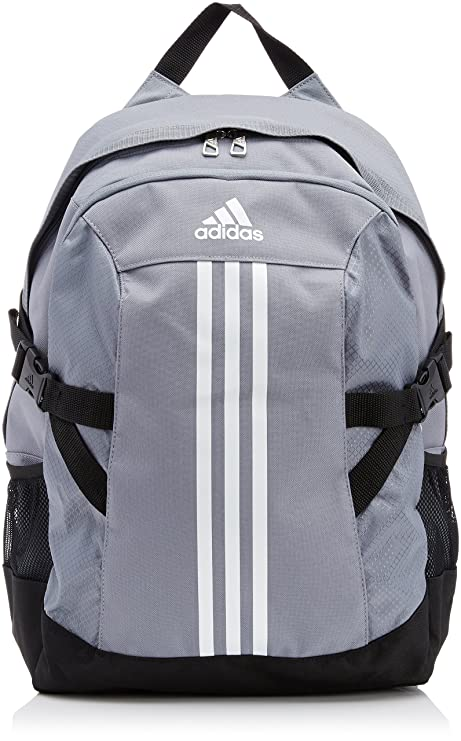 a44d61b4d7 adidas Power Ii Polyester Backpack (Grey White Black)  Amazon.in  Sports