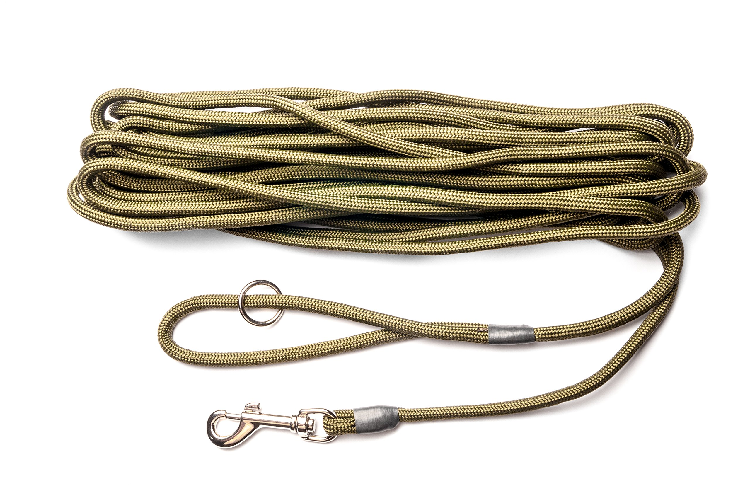 Dog & Field 2in1 30 Foot Training/Exercise Dog Leash - Super Soft Braided Nylon