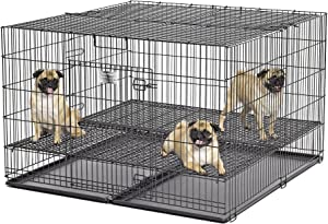 MidWest Homes For Pets Puppy Playpen with Floor Grid