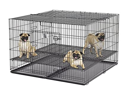 Amazon Com Midwest Homes Puppy Playpen Crate 248 05 Grid Pan