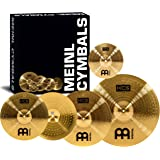 "Meinl Cymbals HCS141620+10 HCS Pack Cymbal Box Set with 14"" Hi-Hat Pair, 16"" Crash, 20"" Ride, Plus a FREE 10"" Splash (VIDEO)"