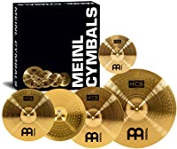 "Meinl Cymbal Set Box Pack with 14"" Hihats, 20"" Ride, 16"" Crash, Plus a FREE 10"" Splash – HCS Traditional Finish Brass"
