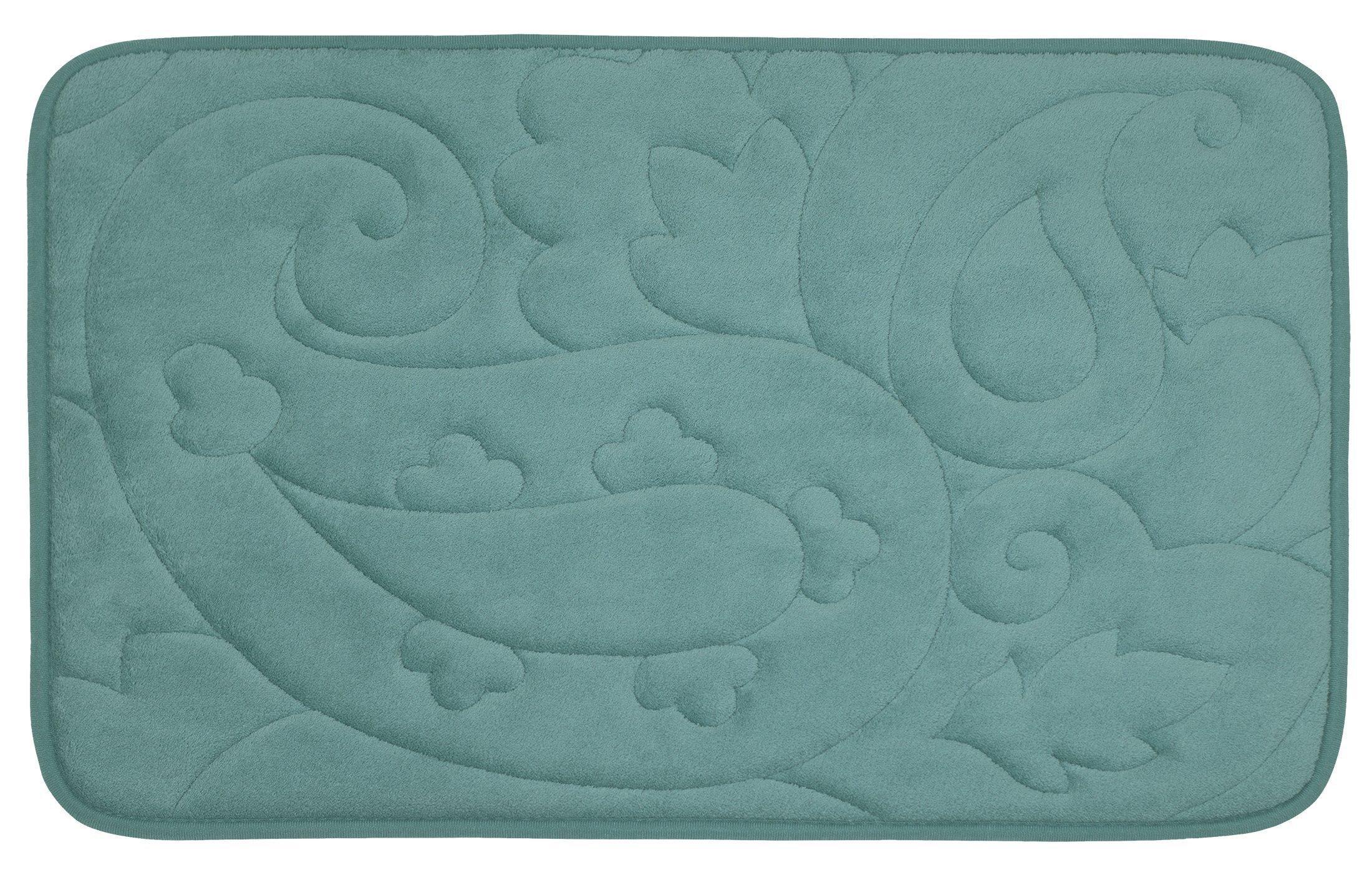 Bounce Comfort Pelton Micro Plush Memory Foam Bath Mat with BounceComfort, 20 x 32 in. Marine Blue -  - bathroom-linens, bathroom, bath-mats - 9183AlgvPFL -