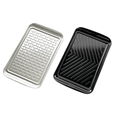 Tovolo Prep and Serve, Nesting, Dishwasher Safe BBQ Trays - Set of 2