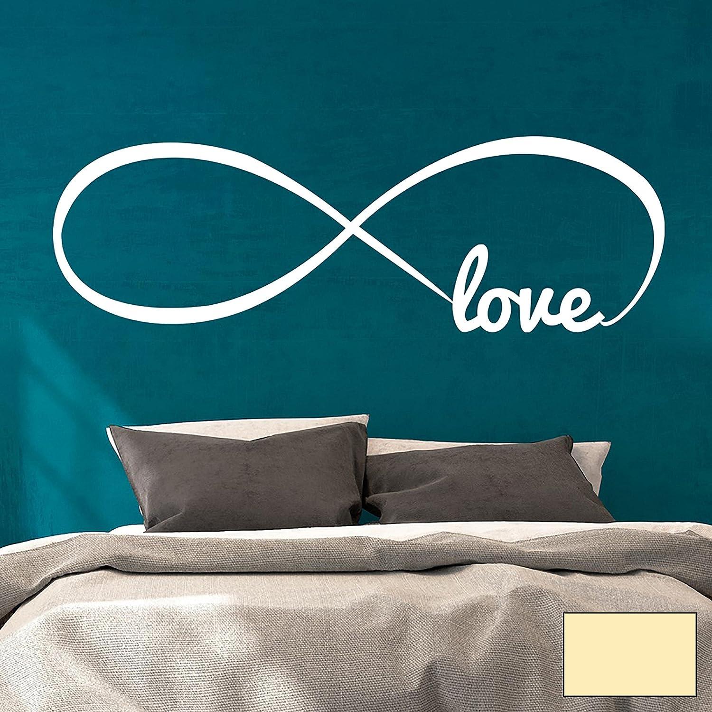Wandtattoo Wandaufkleber endlose Liebe Unendlichkeit Symbol Infinity Love M1764 - ausgewählte Farbe  Schwarz - ausgewählte Größe  XXL - 140cm breit x 45cm hoch B01BMK9MBO Wandtattoos & Wandbilder