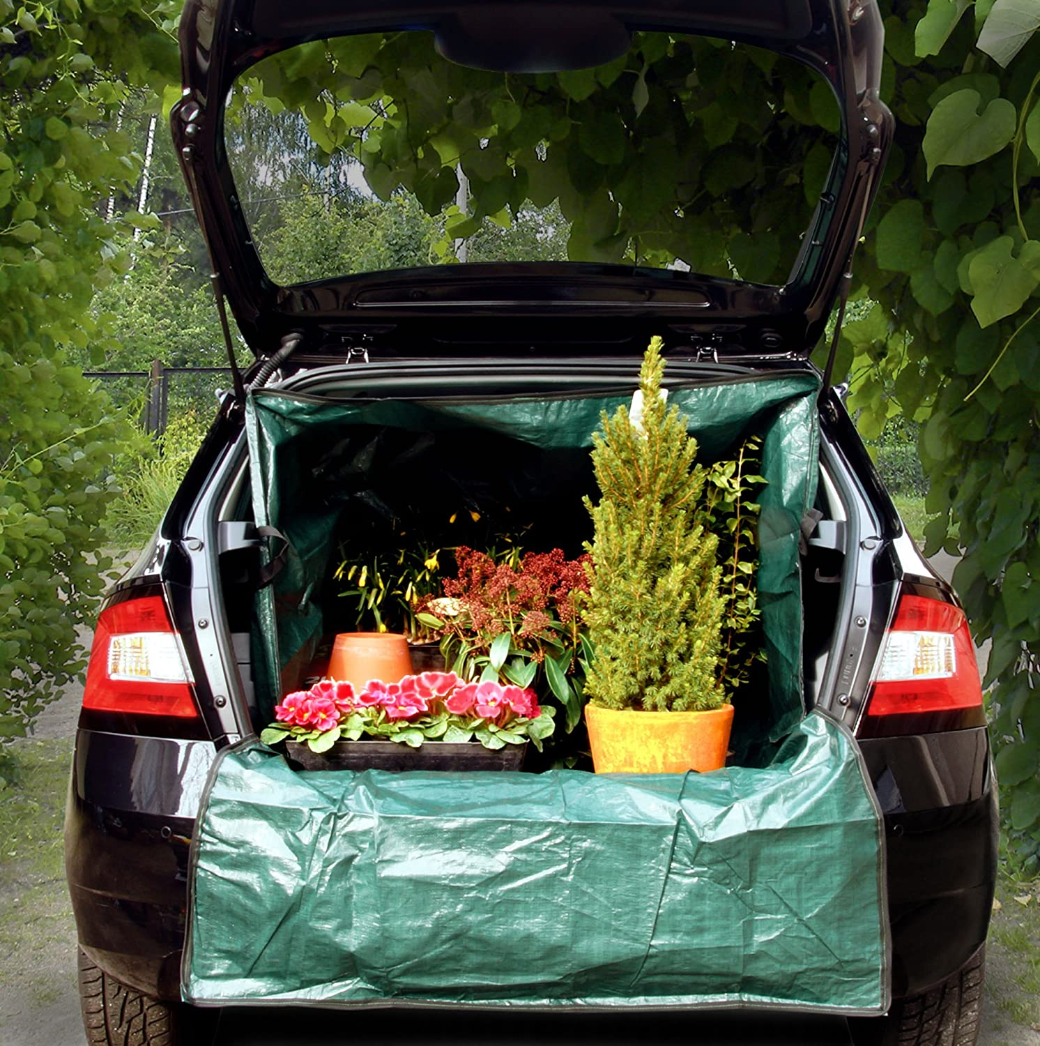 Universal Car Boot Protection with Side ProtectionTransport Box XXL Format, Ideal for Garden Waste, Tools, Building Material, Foliage, WoodBoot Mat with Bumper Protection DS Produkte