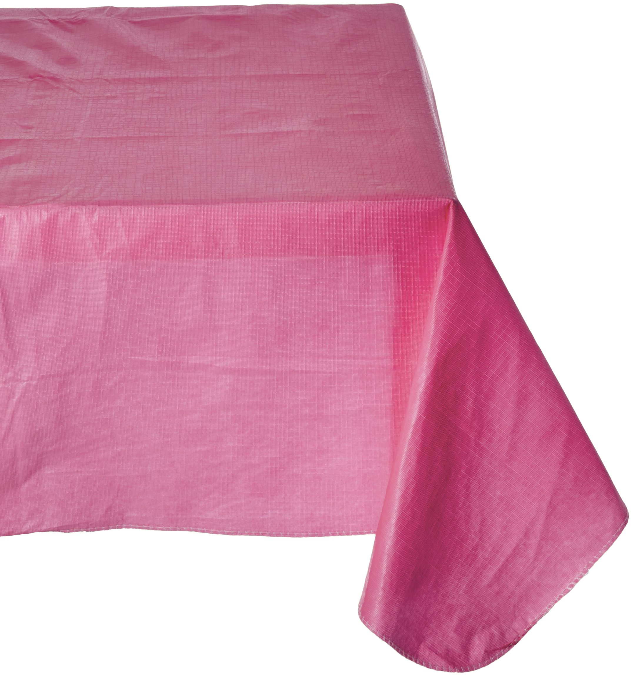 Amscan Durable Indoor/Outdoor Flannel Backed in Solid Color Bright Pink Vinyl 52'' x 90'' Others Party Supplies (6 Piece)