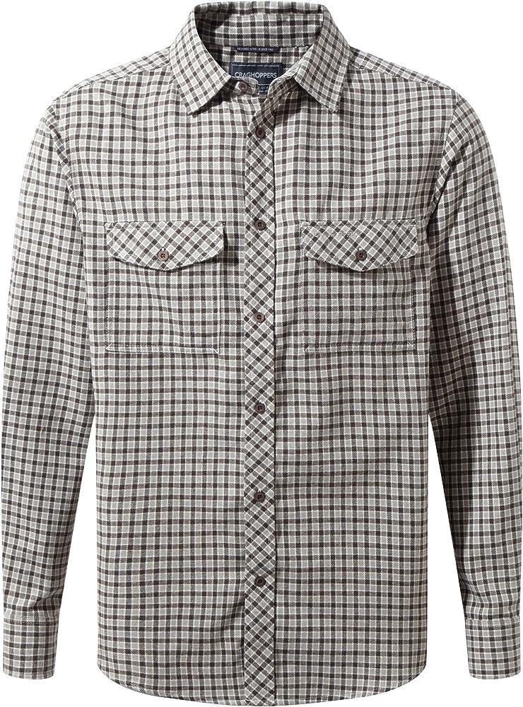 Craghoppers - Camisa de Manga Larga Modelo Kiwi para Hombre (L/Marrón): Amazon.es: Ropa y accesorios