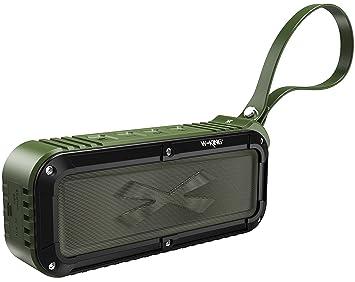 portable outdoor speakers. portable waterproof bluetooth speaker, wireless outdoor speakers for iphone with fm radio, loud dual k