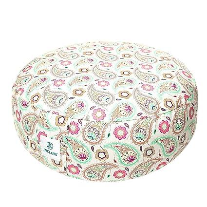 Amazon.com : Incline Fit Zafu Yoga Meditation Cushion with ...